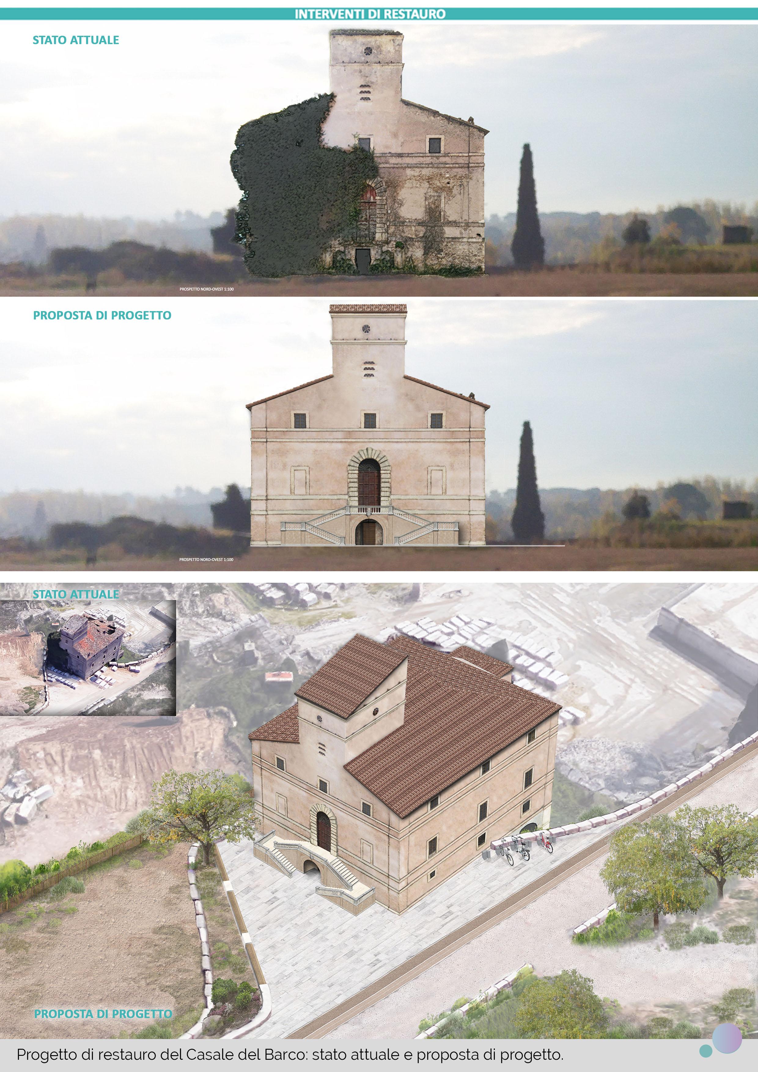 Tesi restauro Casale del Barco- Tivoli