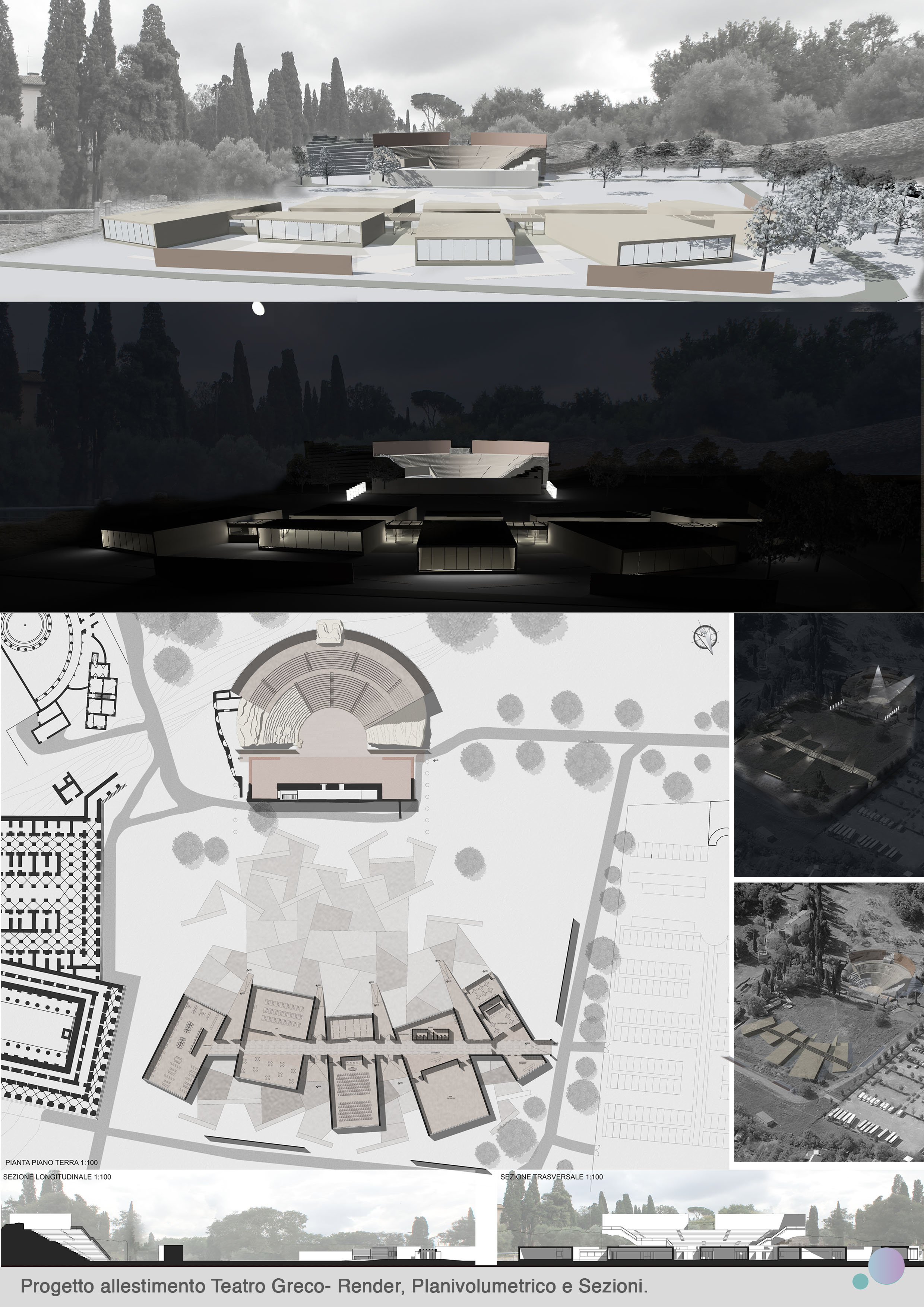 Progetto Museo espositivo-teatro greco Villa Adriana
